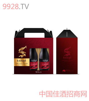 迷你酒六支装手提盒葡萄酒