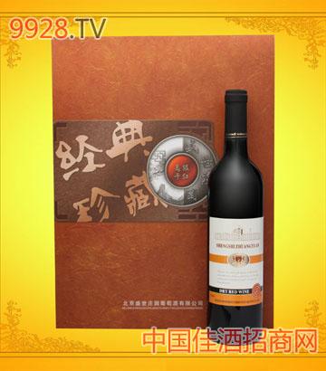 顿号金色庄园干红礼盒葡萄酒