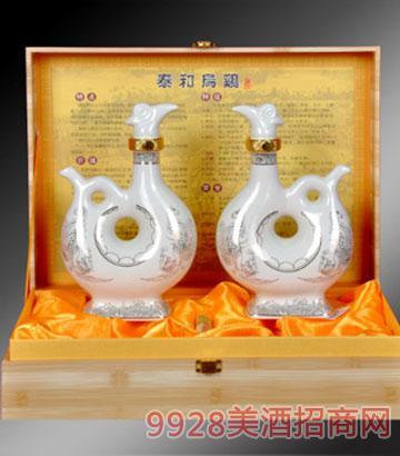 泰和乌鸡酒瓷瓶双瓶礼盒