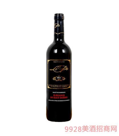 法国波尔多龙舞卡斯特庄园干红葡萄酒 2010