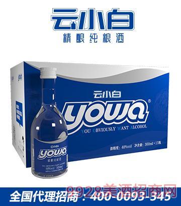 云小白精酿纯粮酒yowa系列300mlX15箱装