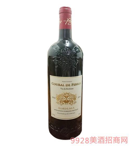 法国波尔多佩雷斯干红葡萄酒14度750ml