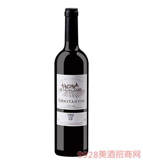 法国康斯坦丁精选干红葡萄酒