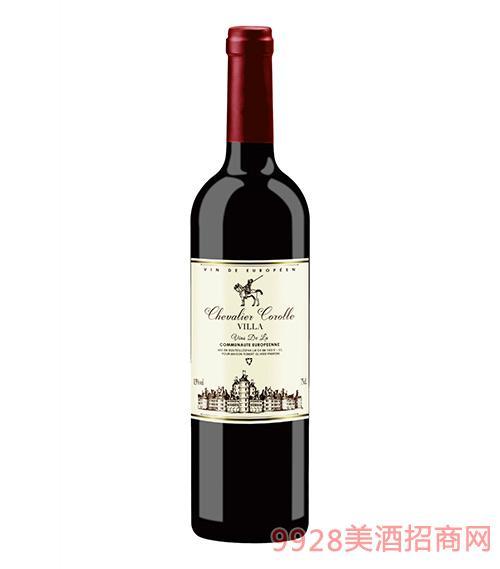 法国花冠骑士干红葡萄酒