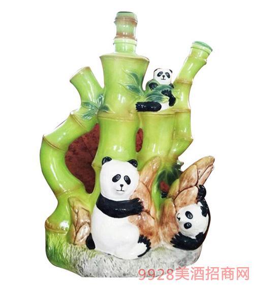 古井镇玉竹熊猫陶瓷酒