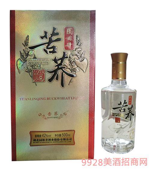 园林青苦荞酒香荞42度500ml