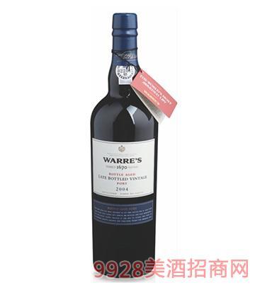 瓦勒迟装瓶年份2004波特酒