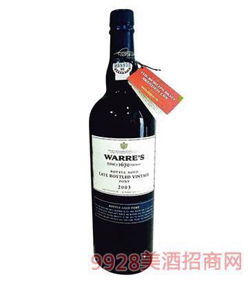 瓦勒迟装瓶年份2003波特酒