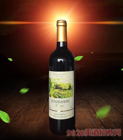 佐丹妮干红葡萄酒2012-12度750ml