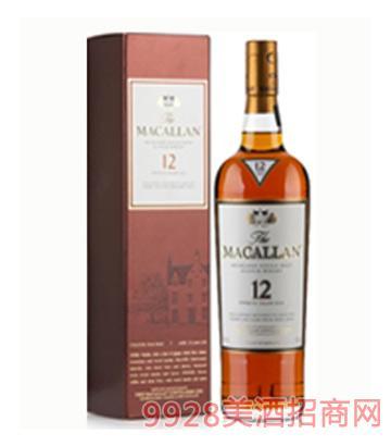 麦卡伦12年单一麦芽苏格兰威士忌