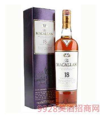 麦卡伦18年单一麦芽苏格兰威士忌