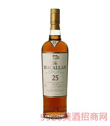 麦卡伦25年单一麦芽苏格兰威士忌