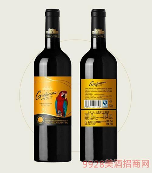 加品卡纳赤霞珠干红葡萄酒金标