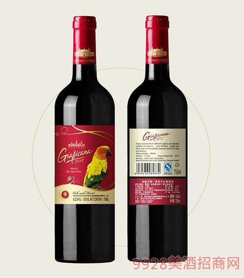 加品卡纳美乐干红葡萄酒