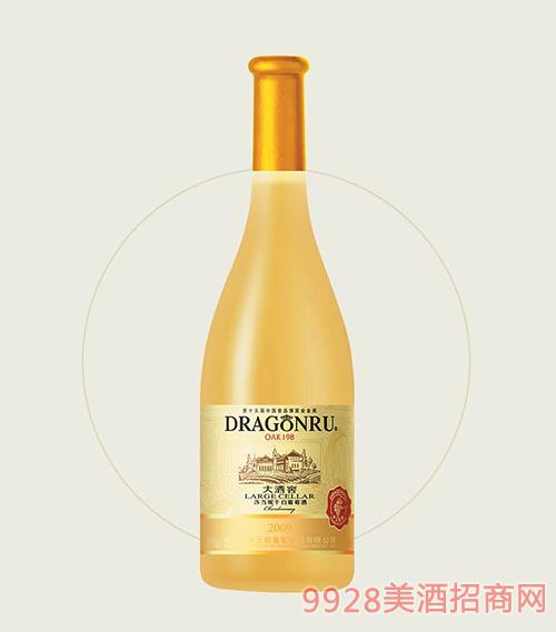 鲁龙大酒窖莎当妮干白葡萄酒2009