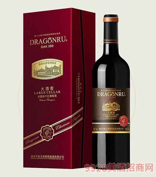 鲁龙大酒窖赤霞珠干红葡萄酒OAK380