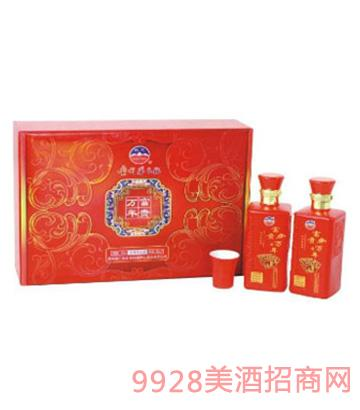 红方富贵万年礼盒酒