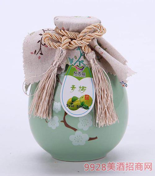 反舌鸟青梅酒(青瓶)5度500ml