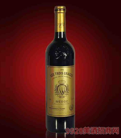 法国女神波尔多优质红葡萄酒