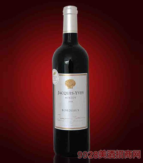 法国雅克-伊夫优质波尔多红葡萄酒