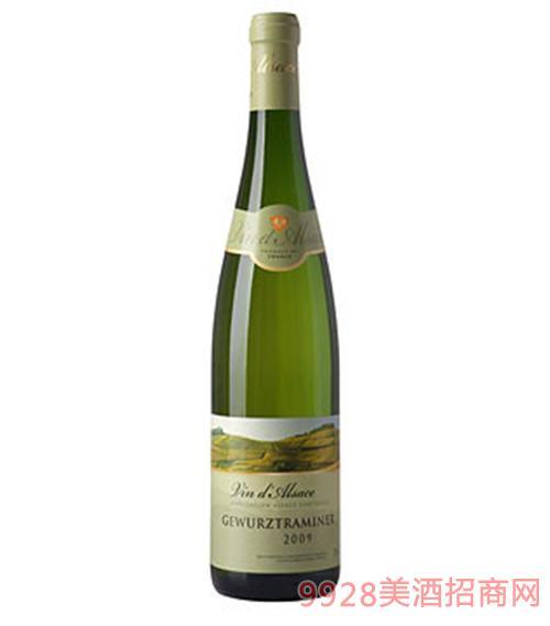 法国阿尔萨斯圣士门庄园琼瑶浆干白葡萄酒