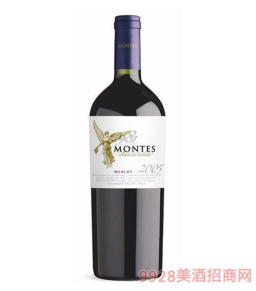 智利?#21830;?#26031;经典梅洛干红葡萄酒