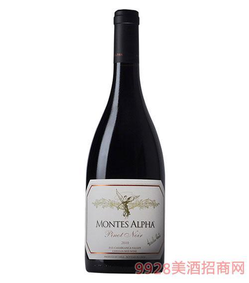 智利?#21830;?#26031;欧法黑比诺干红葡萄酒