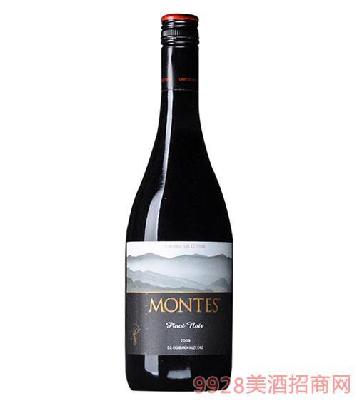 智利?#21830;?#26031;限量版黑比诺干红葡萄酒
