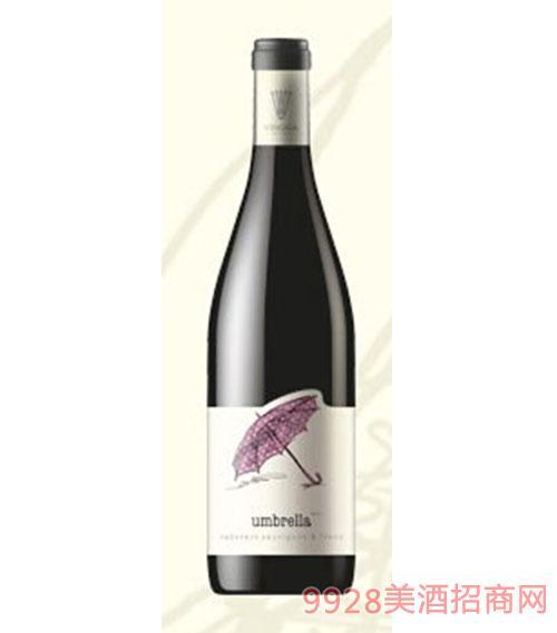 保加利亚赤霞珠品丽珠雨伞干红葡萄酒