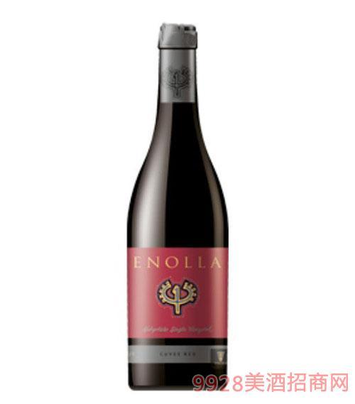 保加利亚原瓶进口恩诺拉赤霞珠-梅洛-西拉干红葡萄酒餐酒