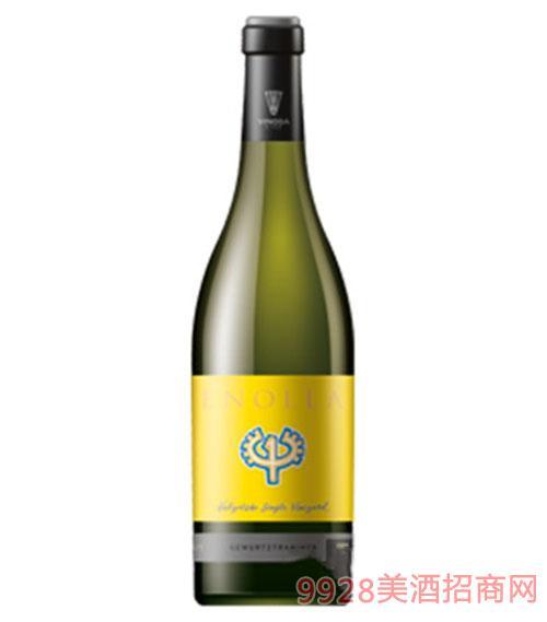 黄色恩诺拉白葡萄酒