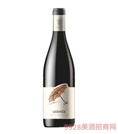 梅洛黑皮诺混合雨伞干红葡萄酒