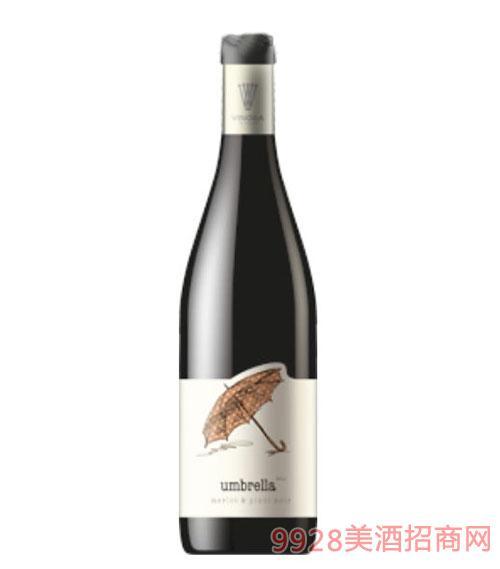梅洛黑皮诺混合雨伞干红葡萄酒750ml