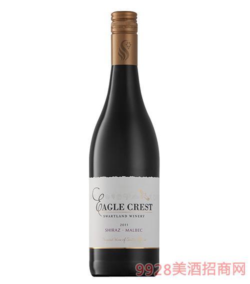 鹰峰西拉马尔贝克红葡萄酒