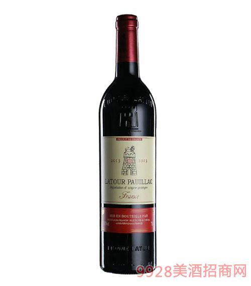 拉图波伊雅克干红葡萄酒13.5度750ml