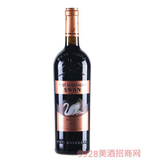 西澳天鹅干红葡萄酒(金标)13.5度750ml