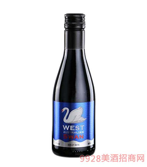 西澳天鹅干红葡萄酒(蓝)13度187ml