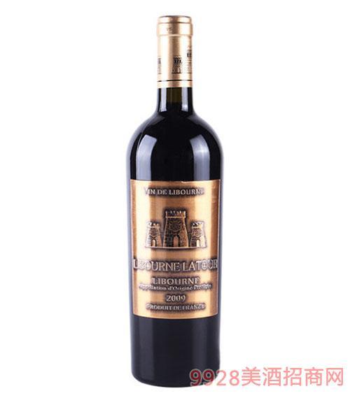 法国利布尔纳拉图酒庄干红葡萄酒2009