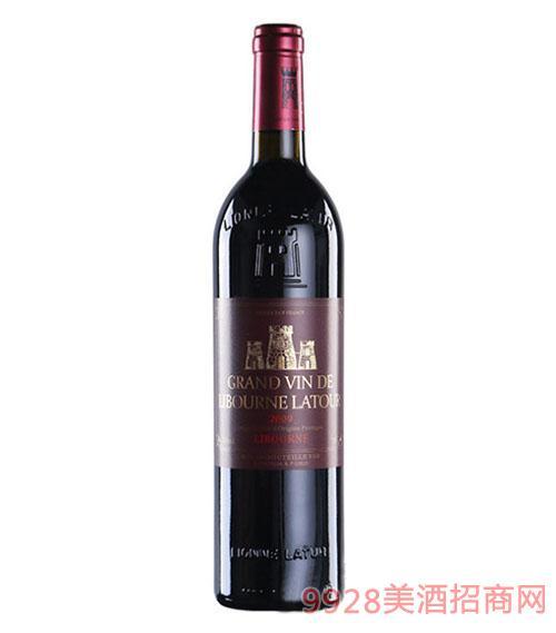 法国利布尔纳拉图酒庄干红葡萄酒红标750ML