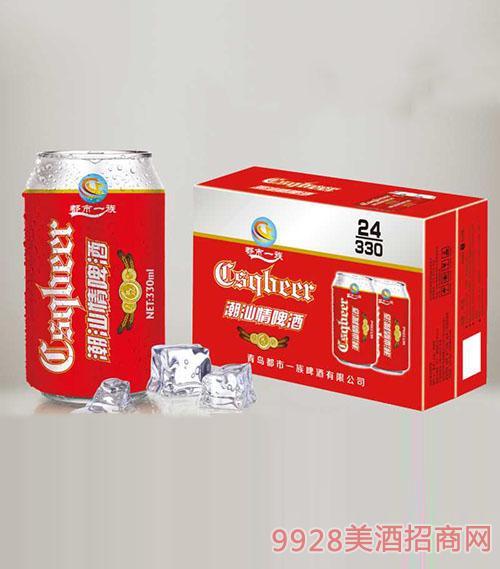 潮汕情啤酒330mlx24