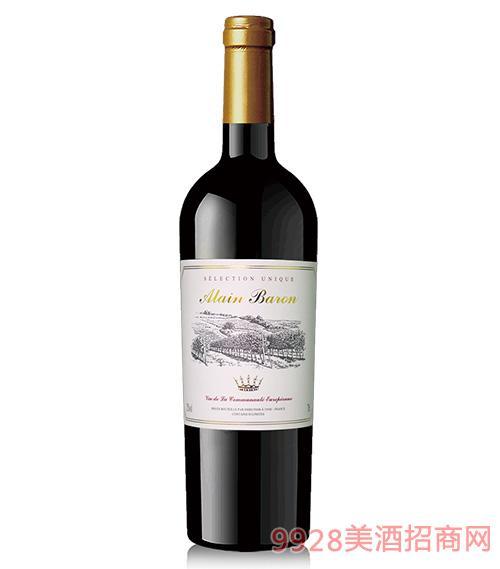 阿兰男爵干红葡萄酒