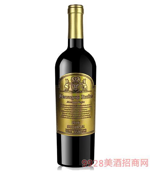 大赤袋鼠西拉干红葡萄酒