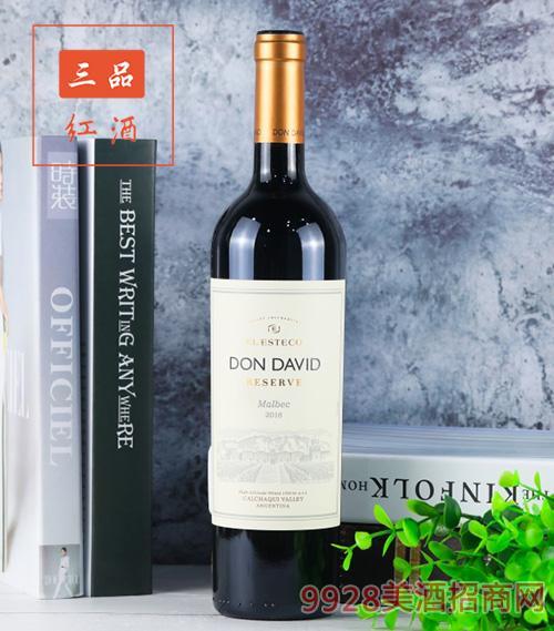 唐大卫马尔贝克红葡萄酒