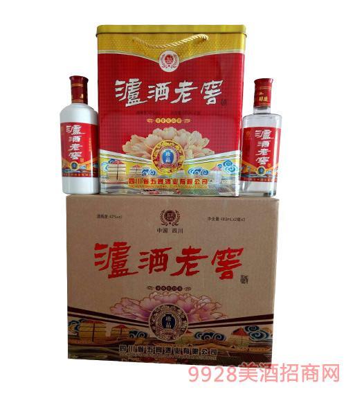 五宾泸酒老窖酒珍品42度480mlx2x3