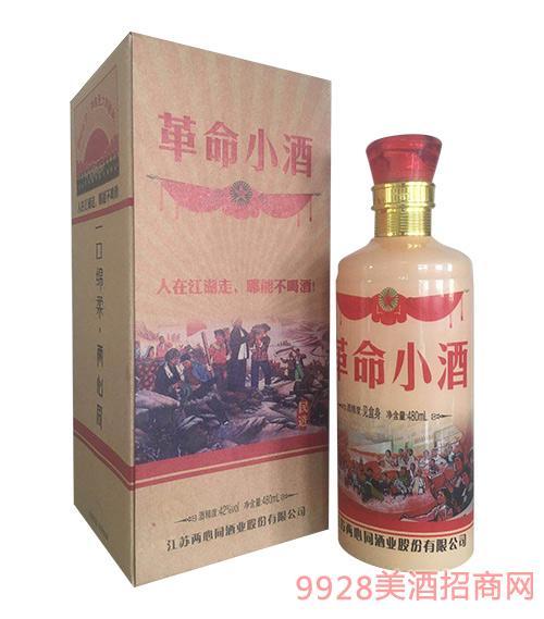 革命小酒人在江湖走,哪能不喝酒42度480ml