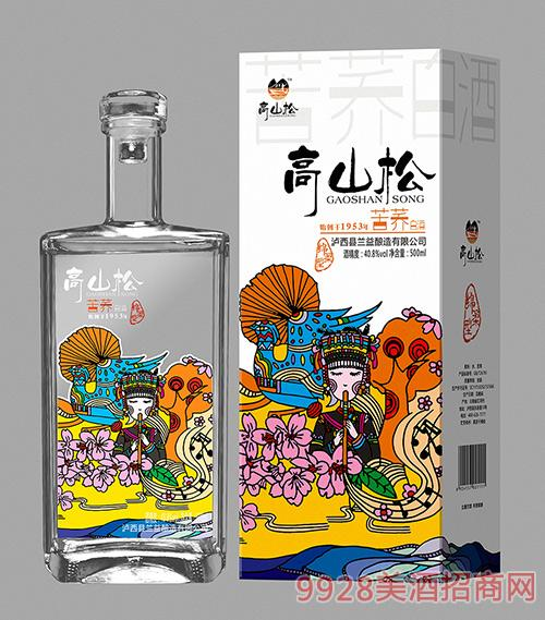 高山松苦荞白酒40.8度500ml
