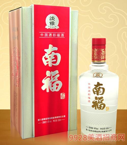 淡雅南福酒45度500ml浓香型白酒
