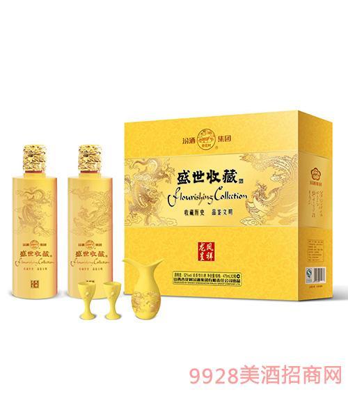 盛世收藏酒(龙凤礼盒)52度475mLX2瓶X4盒