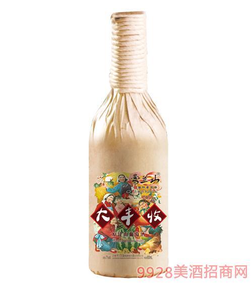 雪兰山·大丰收原汁山葡萄酒7度600ml