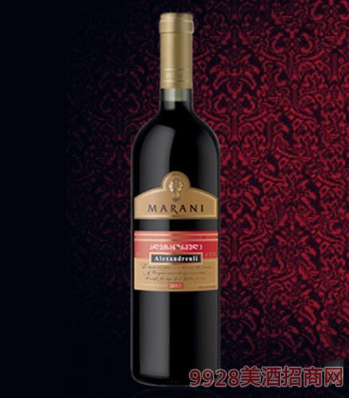 亚历山德拉乌里半甜红葡萄酒11.5度750ml
